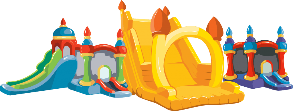 Multiple bounce house vector art