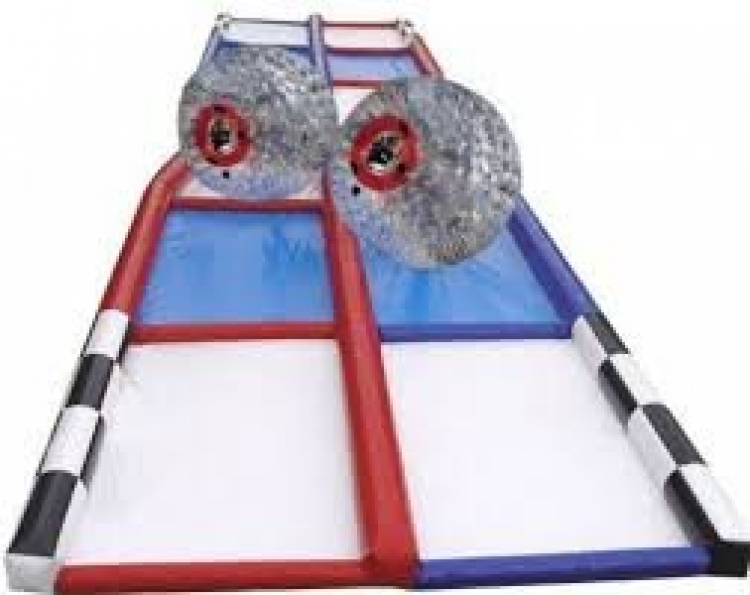 Zorbs (2) with track