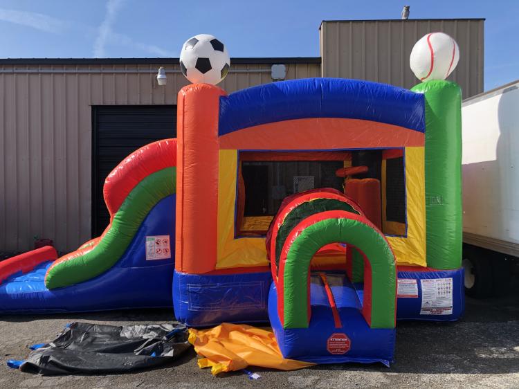 Play Ball Combo Bounce House and Slide