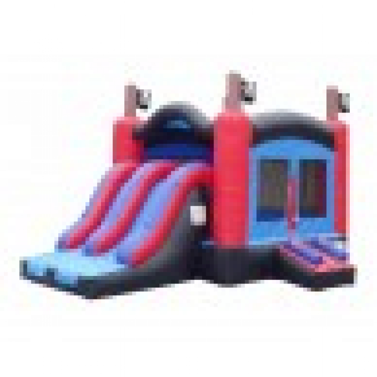 Pirate Combo Bounce House and Slide