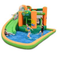 Inflatable slide and pool